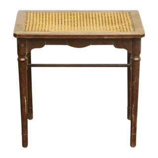 Side Table with Wicker Top