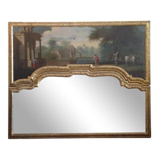 19th Century English Regency Over- Mantel Mirror For Sale