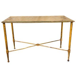 Bronze Based Gilt Glass Top Coffee Table