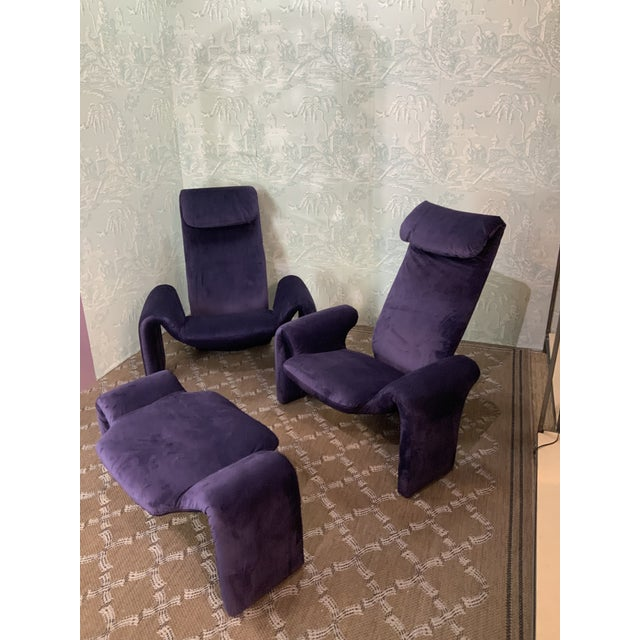 Vintage Olivier Mourgue Orignial Djinn Chairs- Set of 3 For Sale - Image 9 of 9