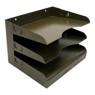 Industrial Three Tier Desk Organizer For Sale