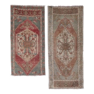 "1970s Vintage Petite Turkish Rug - a Pair 1'7"" X 2'11"" For Sale"