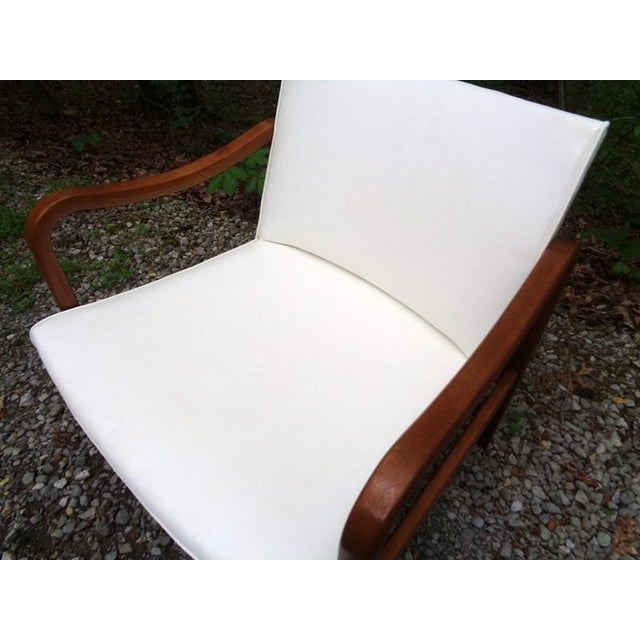 White Rare 1960 Barney Flagg for Drexel Parallel Bent Wood Club Chair For Sale - Image 8 of 13