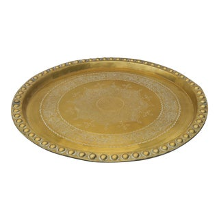 Early 20th Century Indian Brass Tray For Sale