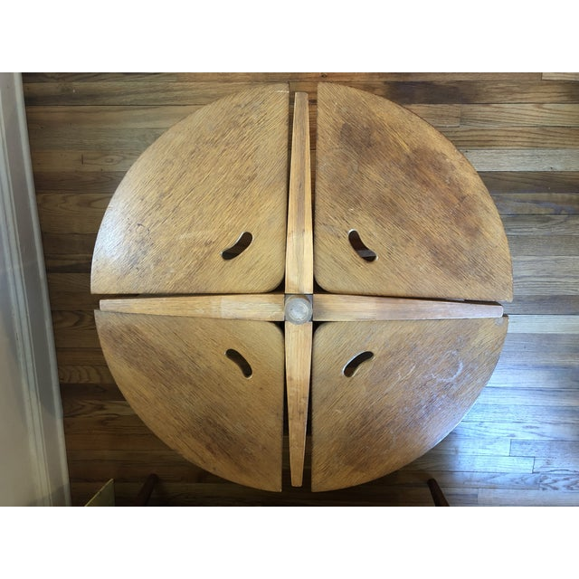 Mid-Century Modern Handmade Oak Coffee Table Chair Set For Sale - Image 4 of 9