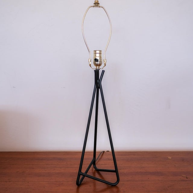 Mid-Century Modern Sculptural Iron Table Lamp, 1950s For Sale - Image 3 of 7
