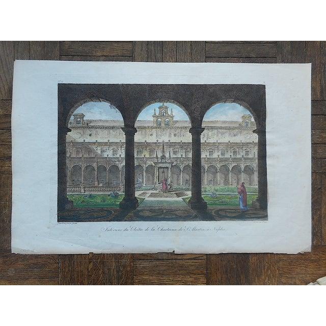 Antique Folio Cloister in Naples, Italy Print - Image 3 of 3