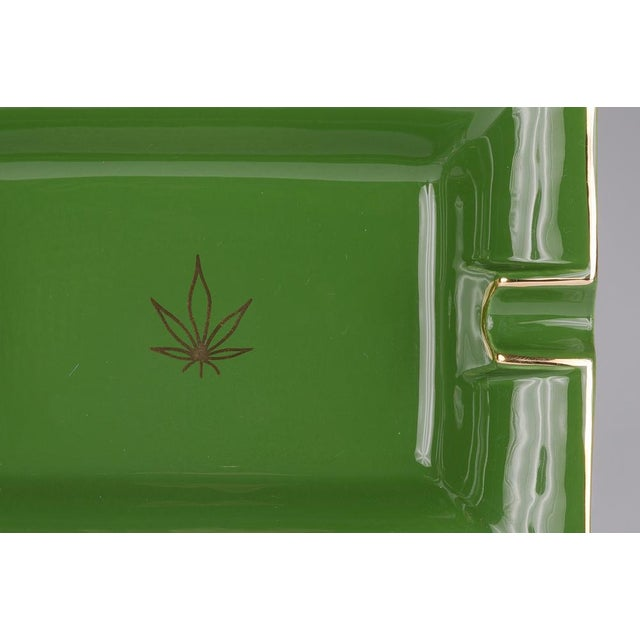 Casacarta Green Leaf Large Trinket Tray / Ashtray For Sale - Image 4 of 5