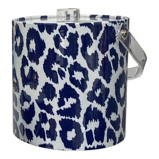 Schumacher Blue Leopard Ice Bucket For Sale