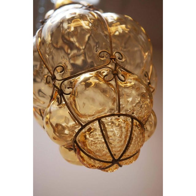 Steel Wire & Glass Pendant Lamp by Seguso Murano, 1960s For Sale - Image 9 of 10