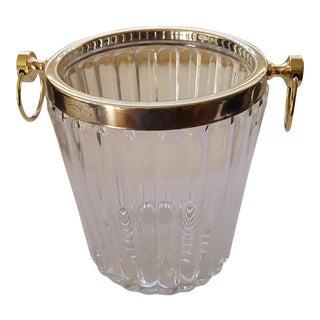 Hollywood Regency Vintage Crystal Champagne Bucket For Sale