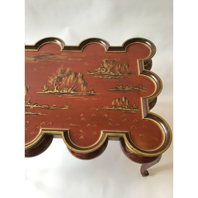 Wood Italian Hand Painted Chinoiserie Coffee Table For Sale - Image 7 of 13