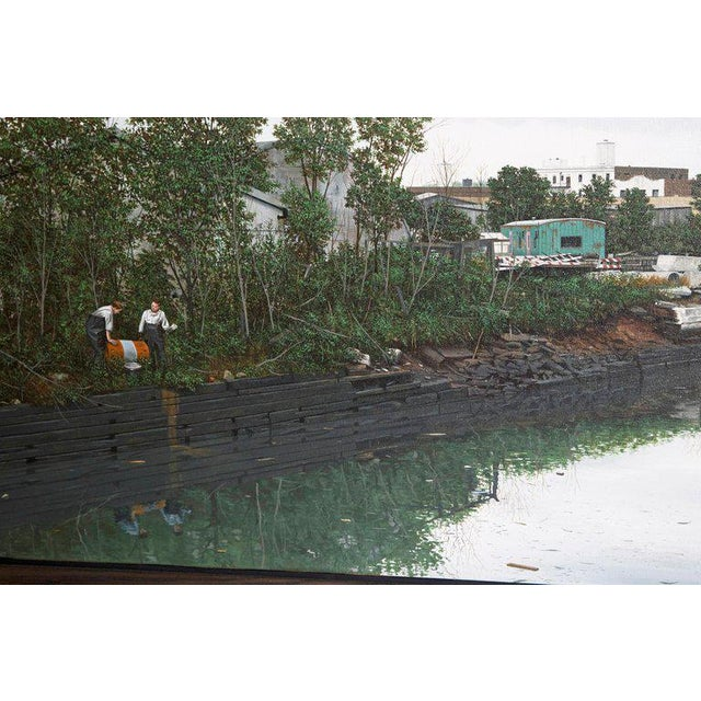 "Oil on Canvas by Randy Dudley Titled ""4th St. Basin - Gowanus Canal"" For Sale - Image 9 of 13"