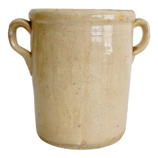 19th-C Italian Confit Jar Pot For Sale