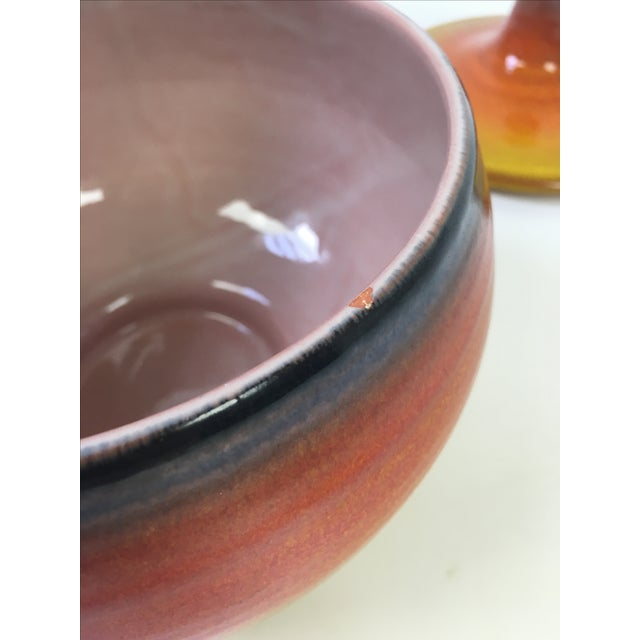 Ceramic Mid-Century Modern Haeger Covered Pottery Dish For Sale - Image 7 of 8