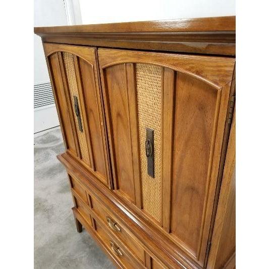 Mid-Century Modern 1960s Dixie Mid-Century Highboy Dresser For Sale - Image 3 of 13