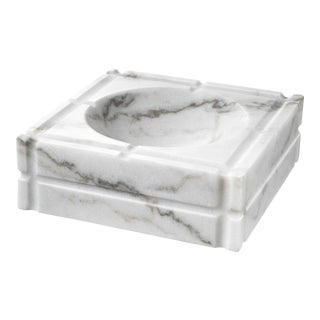 White Marble Ashtray | Eichholtz Nestor For Sale