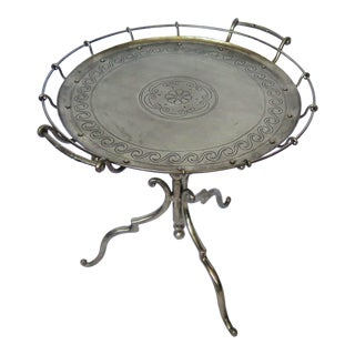 Pure Pewter Occasional/Side Table/Single For Sale