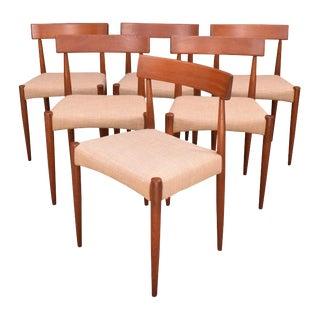 Vintage Scandinavian Modern Teak Dining Chairs by Arne Hovmand Olsen for Møgens Kold - Set of 6 For Sale