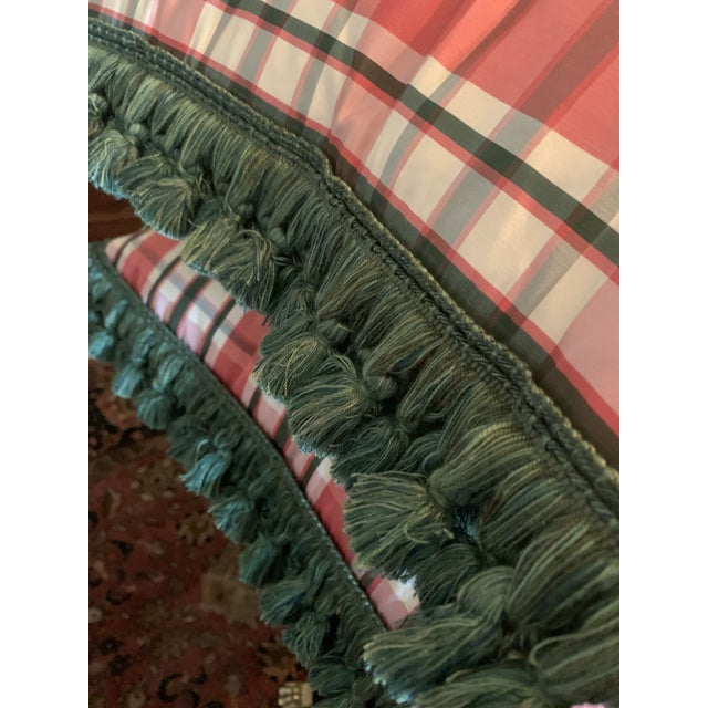 Vintage Accent Schumacher Silk Plaid Pillows With Cowtan & Tout Trim - A Pair For Sale - Image 11 of 12