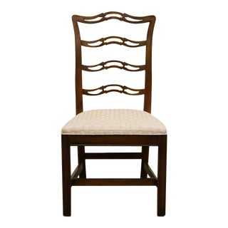 Late 20th Century Vintage Ethan Allen Georgian Court Ladderback Dining Chair For Sale