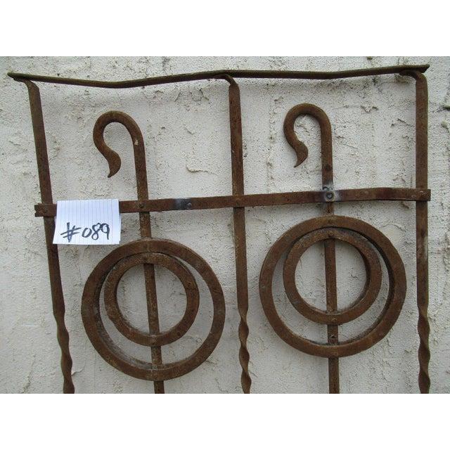Victorian Antique Victorian Iron Gate Window Garden Fence Architectural Salvage Door #089 For Sale - Image 3 of 7