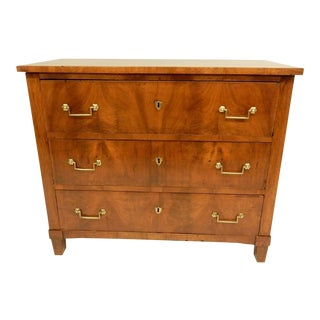 19th Century French Walnut Commode For Sale