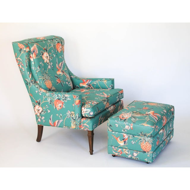 Mid-Century Chair and Ottoman For Sale - Image 10 of 10