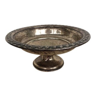 Small Silver Pedestal Dish For Sale