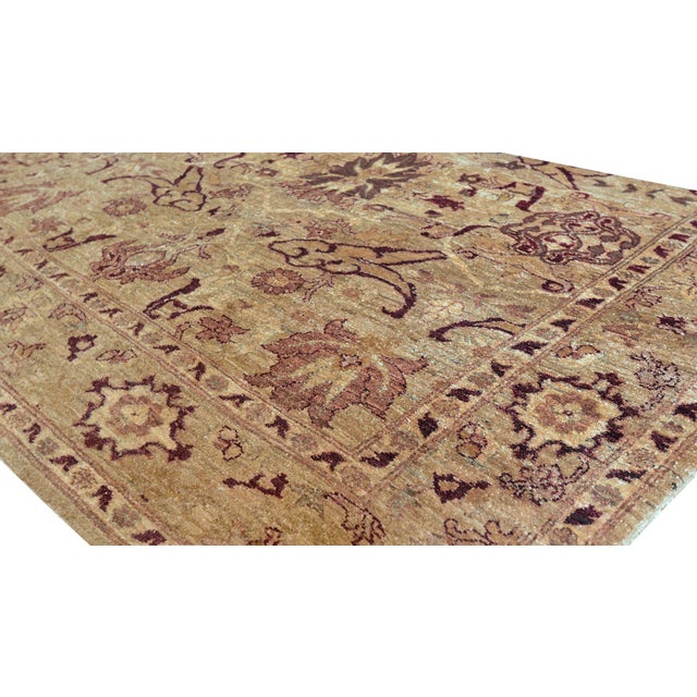 1990s Mansour Quality Agra Rug - 6′ × 7′10″ For Sale - Image 5 of 6