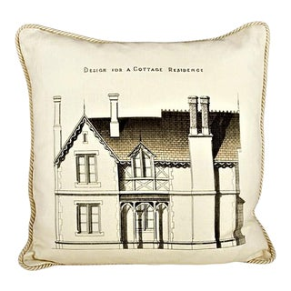 Design for a Cottage Residence Pillow For Sale