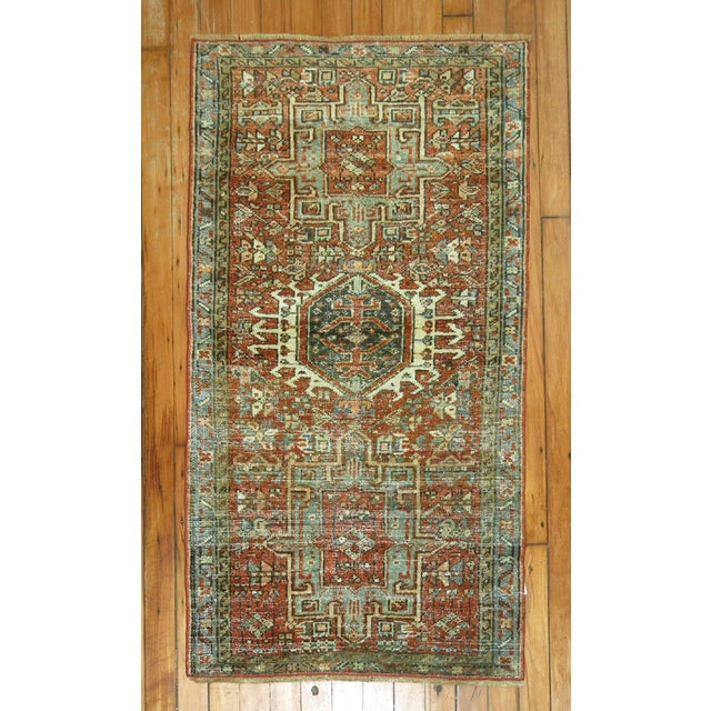 """Antique Persian Heriz Rug - 2'1"""" x 3'9"""" - Image 2 of 5"""