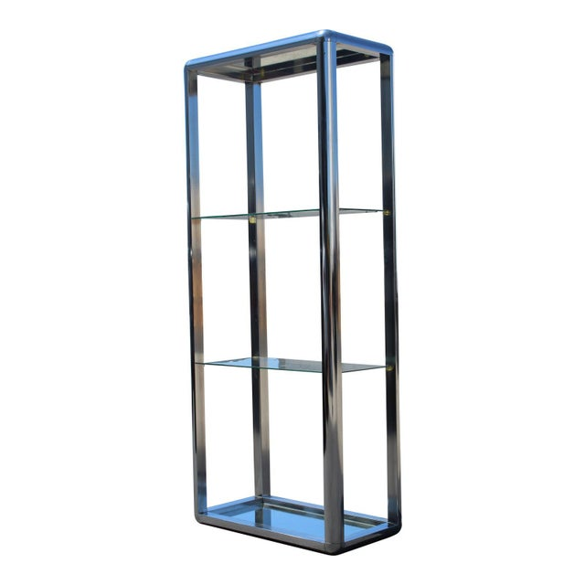 1970s Chrome Mirrored Display Case Stand For Sale - Image 13 of 13