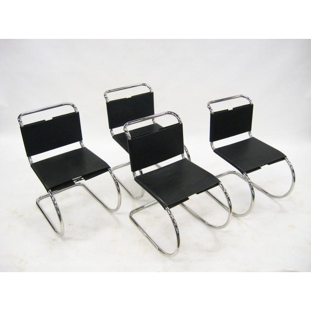 Knoll Ludwig Mies van der Rohe MR chairs by Knoll For Sale - Image 4 of 8
