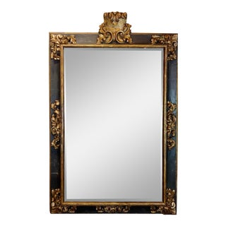 18th Century Monumental Florentine Mirror -Gilt & Ebonized Frame For Sale