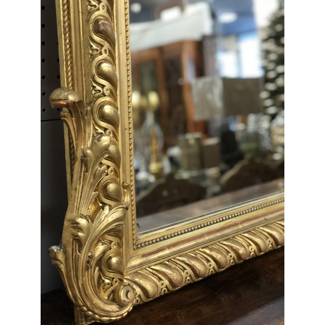 19th Century French Napoleon III Gold Leaf Mirror For Sale - Image 12 of 13