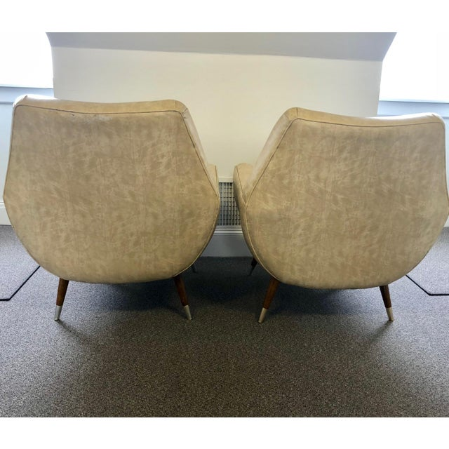 Contemporary Mid-Century Club Chairs - A Pair For Sale - Image 3 of 10