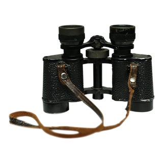 Mid-Century Leather Wrapped Binoculars C. 1950s