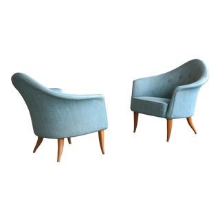 "Pair of Midcentury Lounge Chairs Model ""Lilla Adam"" by Kerstin Horlin-Holmquist"