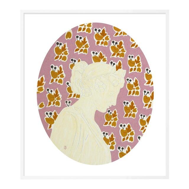 September by Theresa Drapkin in White Frame, Medium Art Print For Sale