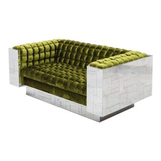 Paul Evans, Cityscape Settee (PE-248), USA, c.1970 For Sale