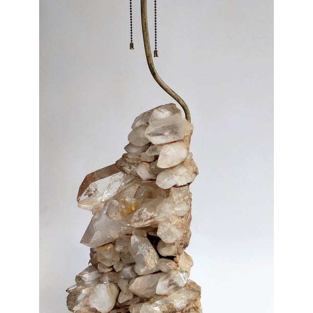 1940s Carole Stupell Quartz Rock Crystal Lamp For Sale - Image 5 of 10