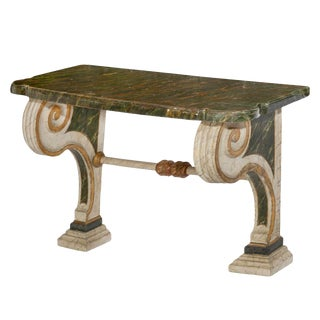 18th Century Italian Neoclassical Console Table With Scrolled Arms For Sale