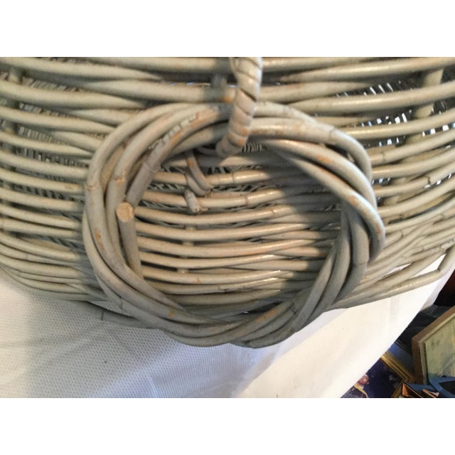 American Decorative Basket With Handles For Sale - Image 3 of 10