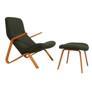 Vintage Eero Saarinen for Knoll Grasshopper Chair & Ottoman For Sale