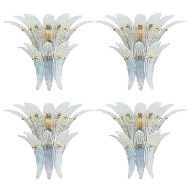 Opaline Palmette Sconces Fabio Ltd (2 Pairs Available) For Sale