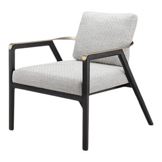 Vesta Proctor Velvet Lounge Chair For Sale