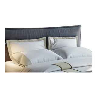 Monte Carlo Banded Pillowcases Standard - Pumice For Sale
