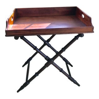 Late 19th Century Campaign Georgian Mahogany Butlers Tray on Stand For Sale