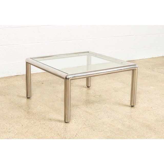 Mid Century John Mascheroni Tubo Glass and Chrome Coffee Table 1970s For Sale - Image 10 of 10